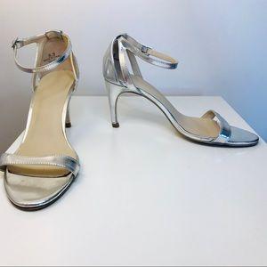 ASOS Ankle Strap Heel- Silver